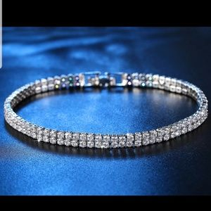 2 Row Brilliant AAA CZ Copper Tennis Bracelet
